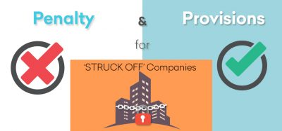 Penalty and Provision for Struck off companies